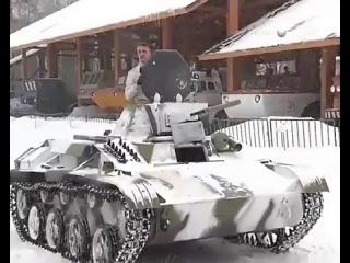 В Пушкине восстановили танк Т-60