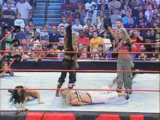 Torrie Wilson, Candice & Victoria vs Trish Stratus & Ashley