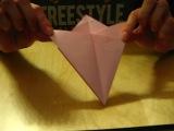 По многочисленным просьбам, покажу вам, как я складываю бумагу, для снежинок)