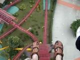 Американские горки в Гуанчжоу, падение под прямым углом с высоты 97 метров
