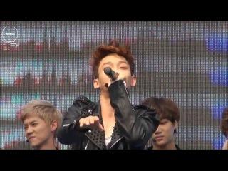 [FANCAM] 130525 EXO Chen beatbox @ Kyungbok Family Festival