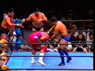 Takada/Kakihara/Sano vs. Tenryu/Fujinami/Araya