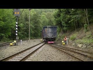 Перевозка вагонов колеи 1435мм по колее 1000мм в Германии.(Autor Gondorian)