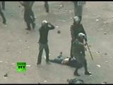 Shocking Video: Blue bra girl brutally beaten by Egypt military