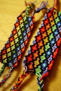 браслеты вязанные крючком.