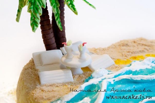 Как на торте сделать песок 2