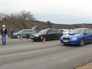 21.04.2013 Subaru Impreza WRX(225л.с.) vs Skoda Superb 1.8T(150л.с.)