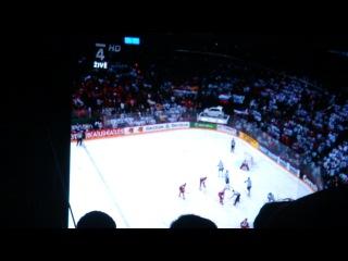 Победа Сборной России. ЧМ по хоккею 2012.Староместская площадь. Прага