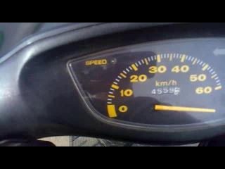 Honda dio 35 sr (разгон)