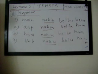Learn Hindi- Lecture 5 (Present Indefinite Tense in Hindi -Part 2)