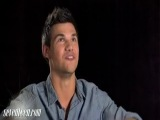 Video: Taylor Lautner Talks Kissing Scene With Lily Collins!