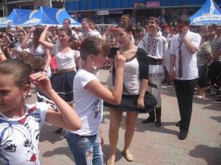 День города Бельцы (22. 05.2012) Флешмоб!