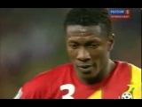 Драматичная концовка матча 1/4 ЧМ Уругвай - Гана (удаление Суареза и пенальти)