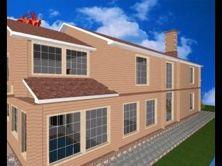 Проект загородного деревянного дома из клееного бруса - LS011