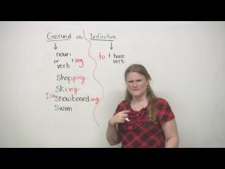 Герундий или инфинитив / Gerund or Infinitive ('I like swimming' or 'I like to swim') English grammar