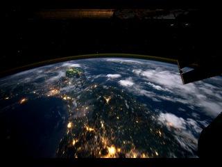 полет вокруг земли - вид с мкс