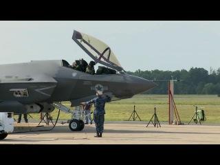F-35C_испытание форсирования двигателя на палубе с отбойником газов