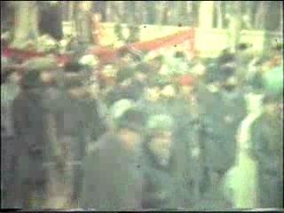 III курс істфаку Вінницького педінституту на листопадовій демонстрації 1988 р.