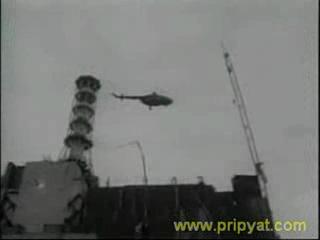 Падение вертолёта МИ-8  в Чернобыле