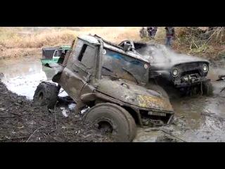 Убил УАЗ болото, грязь, застрял, Смотреть
