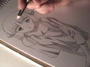 Уроки рисования - лицо в стиле манга.Учимся рисовать мангу, Рисование манги аниме. Manga Page Professionally