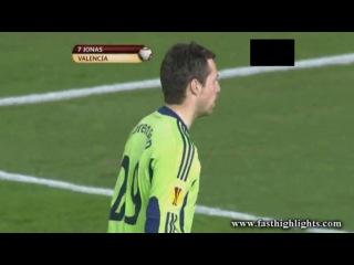 Валенсия 1:0 Сток Сити ( гол Джонаса )