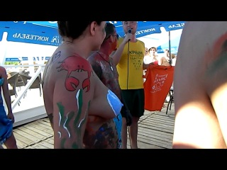конкурс бодиарт на пляже 117, Крым