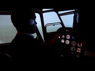 Тренажер Як-18т. Отказ авиагоризонта.