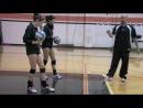 волейбол - техника удара в стойке