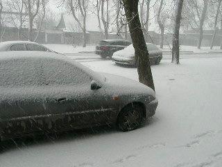 Аномальная погода 15го марта в Запорожье.