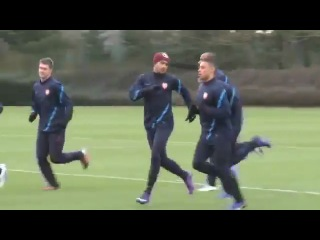 AC Milan 4-0 Arsenal exclusive training session - Henry, RVP, Oxlade, Sagna and the team