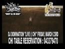 BEATS and BASS - DJ DOMINATION live at CHI at THE LODGE