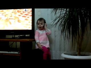 Самира болтает по телефону))))) (запись тихая, но смешная)