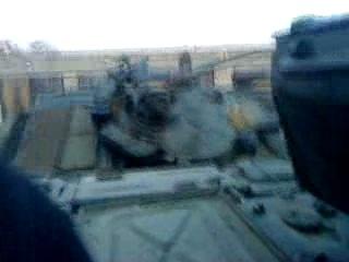 падение Т-72А с трала