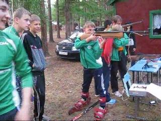 Тренировка биатлонистов в лагере по установкам СКАТТ