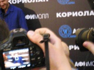 Рэйф (Ральф) Файнс  на встрече с поклонниками в Афимолл Сити.Москва