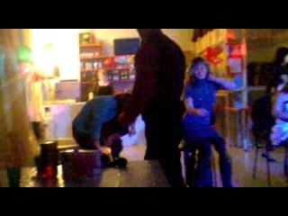 На 14 февраля)) конкурс танец на коленях))