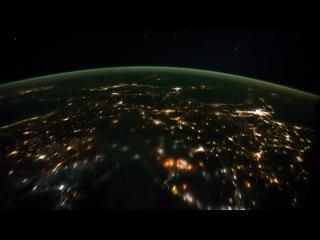 из космоса - земля. рассвет бывает - синий