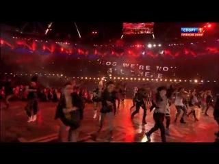 Открытие летних олимпийских игр в Лондоне.Танец панков-пого под Sex Pistols
