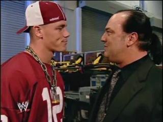 John Cena and Paul Heyman backstage | WWE SmackDown 01/01/2004