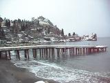 Набережная Гурзуфа в снегу 30 января 2012