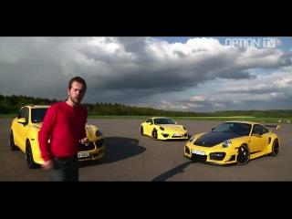 Drag Race TechArt : 991 S vs 997 GTStreet R vs Cayenne Turbo