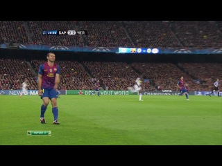 Футбол Лига Чемпионов 2011 12 Ответный матч Барселона Челси 2012 HDTVRip 1 тайм