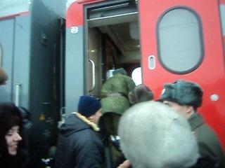Грузимся в поезд Оренбург-Москва((((((