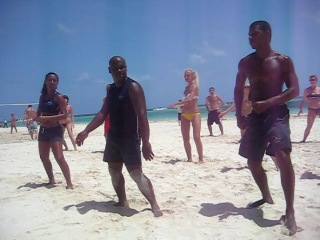 Национальный танец Доминиканы - Бачата. Побережье Атлантического океана. Пунта-Кана.