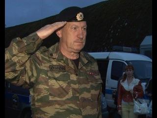 Прибытие бойцов ОМОНа из командировки на Северном Кавказе.Они защищают нас.