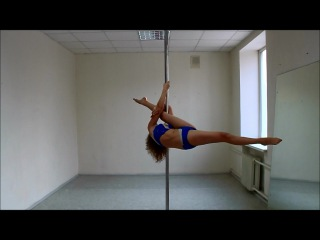Уроки Pole Dance. Jenyne split(Джанин сплит)