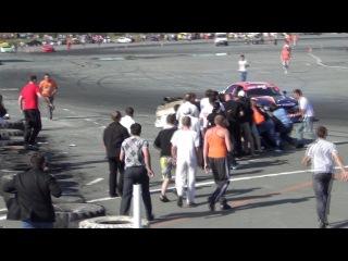 дрифт в Нефтеюганске 2012 август, авария на РДС