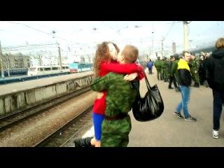 Девушка дождалась парня из армии)мило так...**_)