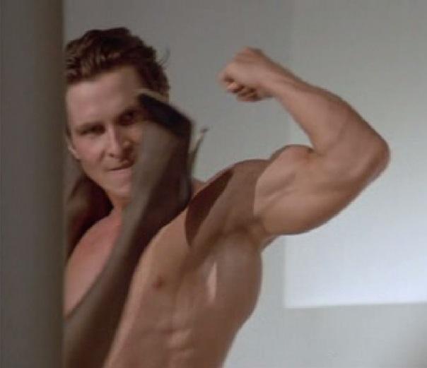 Кристиан Бэйл Christian Bale Американский психопат секс American psycho sex scene.